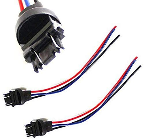 iJDMTOY (2) 3156/3157 Male Adapter Wiring Harness Compatible With Car Motorcycle...
