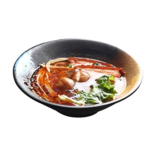WSHFHDLC Cuenco de la Cultura Popular Tazón de Fuente Grande de cerámica Tazón de Sopa Vajilla for el hogar Tazón Profundo japonés Engrosado Cuenco de la Cultura Popular