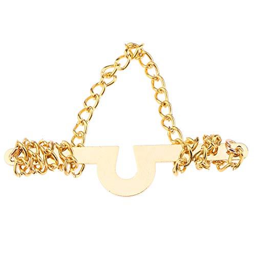 Baoblaze 1 Stück Krawattenkette Business Hochzeit Schmuck Zubehör Krawattenkette für Herren - Gold