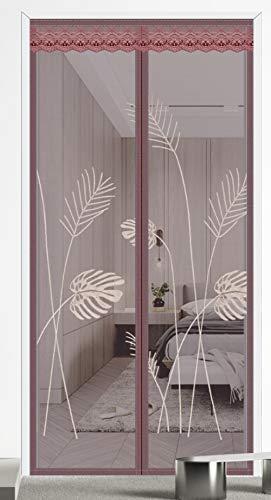 Heavy Duty Mesh Einfache Installation des Türvorhangs-Hellbraun_95 * 210 cm