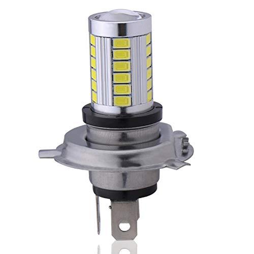 H4 - Bombilla LED para faros delanteros (6,6 W, 800 lúmenes, kit de conversión de faros LED superbrillantes, 6500 K, color blanco frío, resistente al agua, paquete de 2
