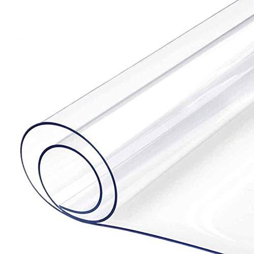 AWSAD Copritavolo Trasparente, Tovaglia in Vinile Trasparente Impermeabile Facile da Pulire in PVC for Scrivanie Cucina Fornelli Tavoli da Pranzo Personalizzabile (Color : 1.5mm, Size : 90x140cm)