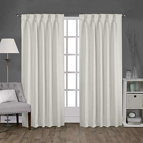Magic Drapes Home décor 100% Polyester Double Pinch Pleat Blackout Window Curtain Panels & Drapes and Thermal Insulation Handmade (42x63, 2 Panels, Light Grey)