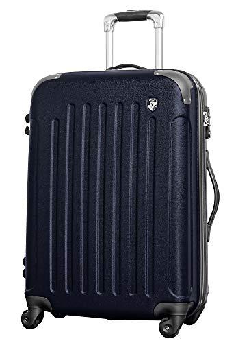 M【マットA】ネイビー/newFK10371スーツケースキャリーバッグ軽量TSAロック(4~7日用)マット加工ファスナー開閉タイプ