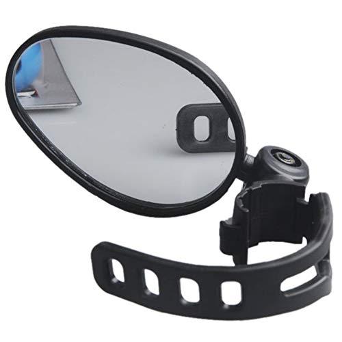 SUPEWOLD - Confezione da 2 specchietti retrovisori universali per Manubrio della Bicicletta, Rotazione di 360 Gradi, Regolabili, per Mountain Bike e Bici da Strada, 70x50mm