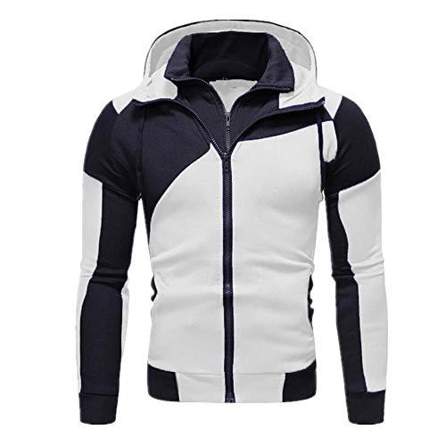 Otoño invierno sudadera con capucha de los hombres de los deportes sombrero cremallera camisa