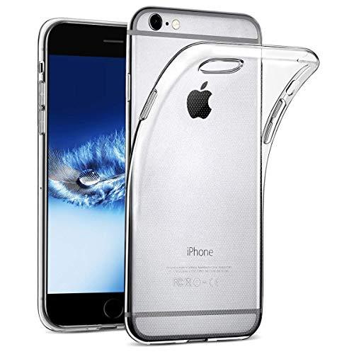 wsiiroon Hülle kompatibel mit iPhone 6 6S Transparente Handyhülle, Stoßfeste Ultradünne Durchsichtig Schutzhülle, Clear Soft Silikon Case Klar TPU Silikonhülle