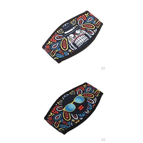 SM SunniMix Pack 4 Neopren Tauchmaske Riemenabdeckung Maskenriemenabdeckung Gepolsterter Schutz Passend Zum Tauchen Und Schwimmen, Einheitsgröße