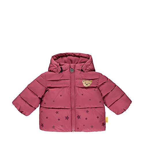 Steiff Baby-Mädchen mit süßer Teddybärapplikation Jacke, Malaga, 050