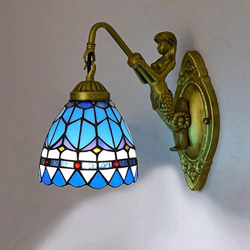 Wandleuchte - Europäische Tiffany Glasmalerei Wohnzimmer Esszimmer Schlafzimmer Bar Clubhaus Gang Balkon Feder Mediterrane Wandleuchte - Wandleuchte in Ali