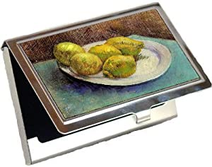 Still Life with Lemons on a Plate By Vincent Van Gogh Business Card Holder