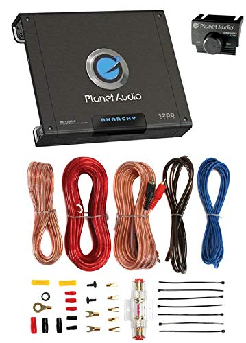 Why Should You Buy PLANET AUDIO AC1200.2 1200W 2 Channel Car A/B Amplifier Amp AC12002+8 Ga Amp Kit