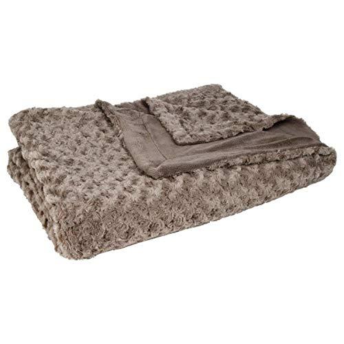 Eminza Decke, extra weicher Bettüberwurf, 180 x 230 cm, ideal für kalte Tage - Atmosphera