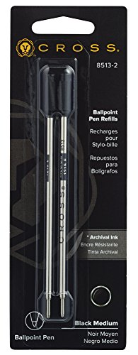 Cross penna a sfera refill confezione da 2 Medium Black