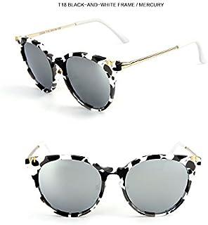 Sunglasses Child Sunglasses Children Polaroid Sunglasses Fashion Cute Cat Eye Sunglasses Boys Girls Kids Baby Goggles UV400 Mirror Accessories for Summer Beach (Color : Silver)