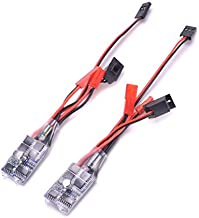 YoungRC RC 30a Brushed ESC Motor Speed Controller for 1/16 18 24 Car and Boat Tank W/o Brake(Pack of 2 Pcs)