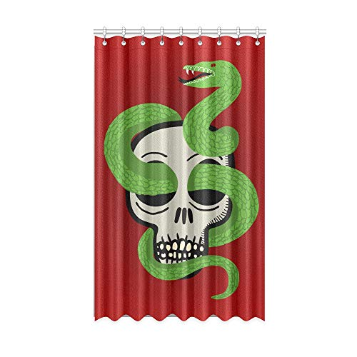NA Cortinas de Ventana Modernas Cráneo con Scary Snake Boy Cortinas de Cocina Blackout 50 X 84 Pulgadas de una Pieza para Patio Puerta corrediza de Vidrio/Dormitorio