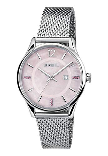 Orologio BREIL donna CONTEMPO quadrante rosa e bracciale in acciaio, movimento SOLO TEMPO - 3H QUARZO