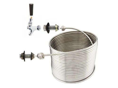 """NY Brew Supply Jockey Box 1 Tap Coil Kit - 5/16"""" x 70' Right Hand Coil"""