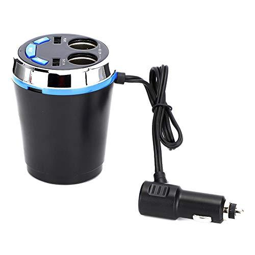Elprico Bluetooth FM Transmitter, Dual USB Ladegerät Freisprech-Musik-Player Bluetooth FM Transmitter Auto Zigarettenanzünder Steckdose