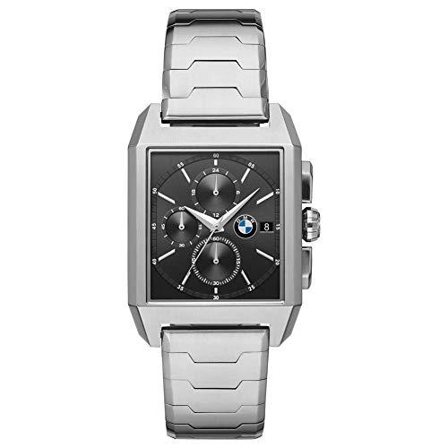 BMW Herren-Uhren Analog Quarz One Size Silber Edelstahl 32012132