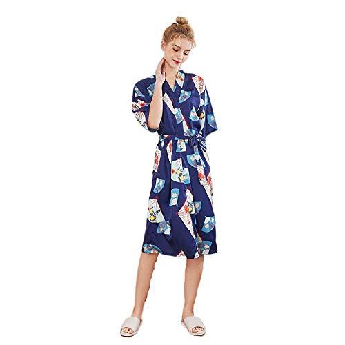 TaoRan Silk pyjama dames casual kimono robe zijde voorjaar en zomer bruid bruidsmeisjes badjas lang in huis badjas
