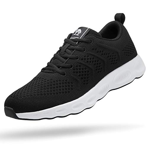 CAMEL CROWN Men's Running Shoes Tennis Shoes Fashion Sneaker Lightweight Athletic Casual Sport Workout Walking Shoes Black/White