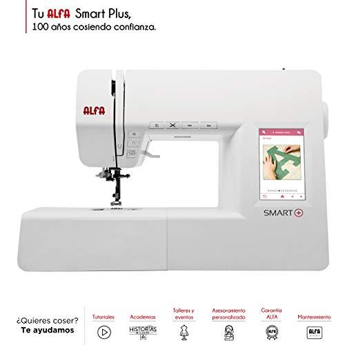 Alfa Smart Plus - Máquina de Coser electrónica, Blanco, 100 Puntadas