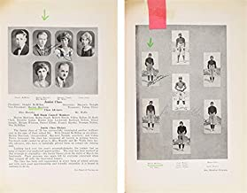 John Wayne Twice Signed 1924 Glendale Union High School Yearbook BAS #A72828