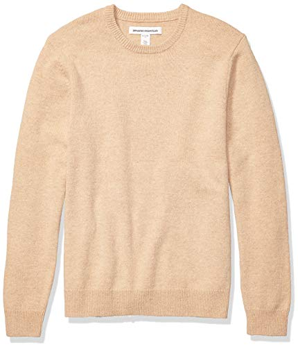 Amazon Essentials Men's Midweight Crewneck Sweater, Camel, X-Large