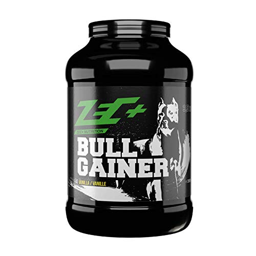 Zec+ Bullgainer - Vanille 3500 g, Protein-Pulver mit Vitaminen, Aminosäuren und Kohlenhydrathen zum Masseaufbau, Made in Germany