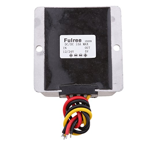 Homyl Waterproof DC-DC Voltage Converter Buck 12V / 24V to 5V 15A 75W for Car Air Conditioning Electric Fans