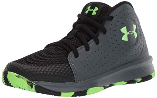 Under Armour Kids' Pre School 2019 Basketball Shoe, Pitch Gray (100)/Black, 1