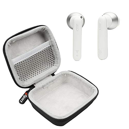 JBL Tune 220TWS True Wireless in-Ear Headphones Bundle with gSport Deluxe Hardshell Case (White)