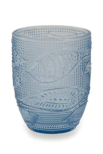 Villa d'Este Home Tivoli Fish Set Bicchieri Acqua, Blu, 6 unità