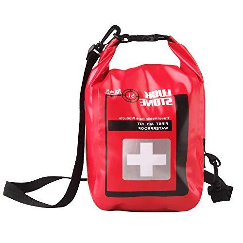 DIYARTS 5L Bolsa de Primeros Auxilios PVC Bolsa de Utilidad de Primeros Auxilios Vacía Portátil y Liviana con Correa para Hogar, Oficina, Deportes, Senderismo