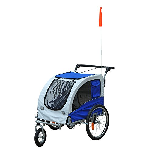 Aosom Elite II Pet Dog Bike Bicycle Trailer Stroller Jogger w/ Suspension