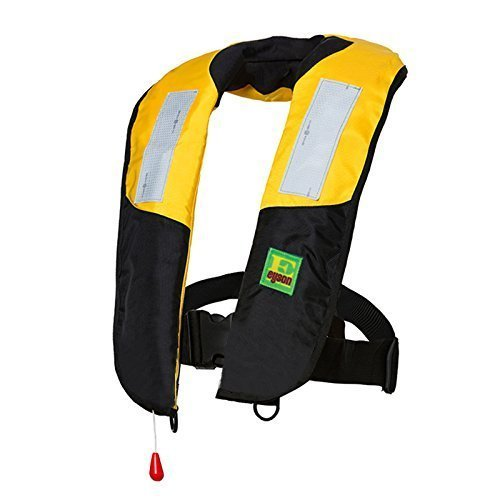 Lifesaving Pro Premium Auto/Manual Inflatable Life Jacket/Floating Vest Inflate Survival Aid PFD Light Weight with Reflection Bands