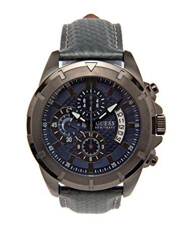 Guess W18549G2 - Reloj analógico de Cuarzo para Hombre con Correa de Piel, Color Azul