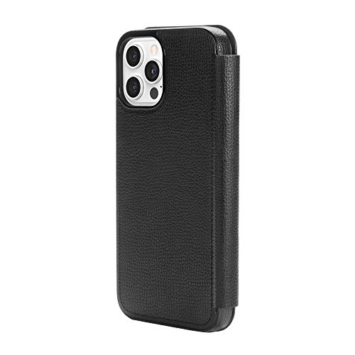 kate spade new york Folio Case Compatible with iPhone 12 Pro Max -Black Crumbs/Black PC/Gold Sticker Logo