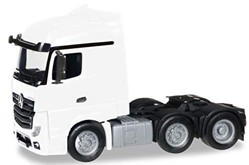 herpa 305174-003 Mercedes-Benz Actros Streamspace 6X2 starr Traktor Modellsatz, weiß