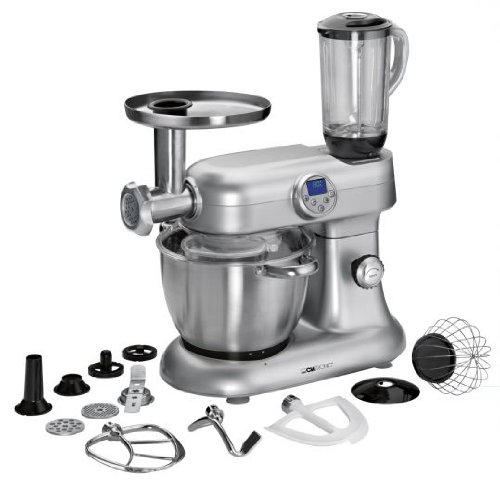 Clatronic KM3476 Cook & Mix robot da cucina tritacarne, mixer, multiuso (2000 Watt, 13 funzioni, braccio multifunzione girevole)