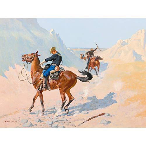 Remington Grand poster imprimé Garde d'Avance Militaire Sacrifice Ambush Cavalry Art Mural