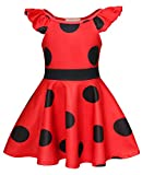AmzBarley Miraculous Ladybug Kostüm Kleid Kinder Mädchen Marienkäfer Cosplay Kleider Schick Party...