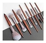 MiaoMiao 11/12 unids Conjunto de Pincel de Maquillaje Fundación Polvo Bending Sombra Bend Liner Eye Base Cosméticos Pinceles Maquiagem Service (Handle Color : 11Pcs Set)