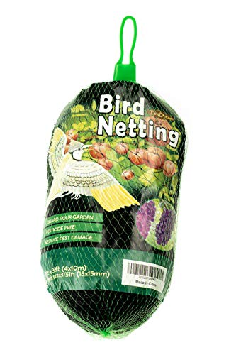PetiDream Bird Netting Stops HawksBirds from PlantsFruit Trees and Vegetables  Perfect as Garden Netting and Protective Net in 13ftx 33ftBlack