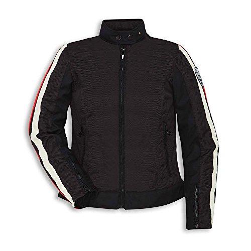 Ducati Breeze Damen Stoffjacke schwarz Motorradjacke Retro Größe S