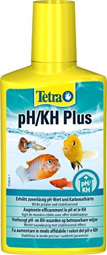 Tetra PH/KH Plus, stabilisiert den pH-Wert und verhindert Säuresturz im Aquarium, für optimale Einstellung der Karbonathärte, 250 ml Flasche