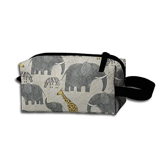Travel Makeup Elephant Giraffe Animal Beautiful Waterproof Cosmetic Bag Quick Makeup Bag Pencil Case