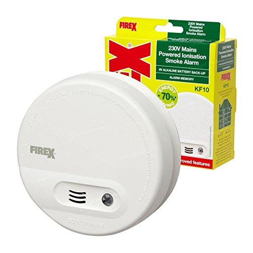 3 x Kidde FireX Ionisation Smoke Fire Alarm Detectors KF10 4870 with Built...